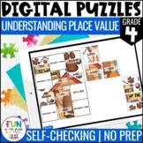 Place Value Digital Puzzles {4.NBT.1} | 4th Grade Digital