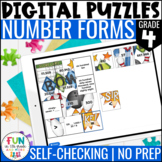 Read, Write & Compare Numbers Digital Puzzles {4.NBT.2} 4t