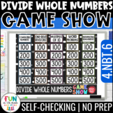 Divide Whole Numbers Game Show | 4th Grade Math Test Prep 4.NBT.5