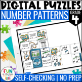 Number Patterns Digital Puzzles {4.OA.5} | 4th Grade Digit