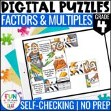 Factors and Multiples Digital Puzzles {4.OA.4} | 4th Grade