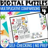 Multiplicative Comparisons Digital Puzzles {4.OA.1}   4th Grade