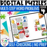 Multi-Step Word Problems Digital Puzzles {4.OA.3} | 4th Gr