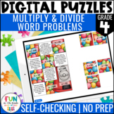 Multiply & Divide Word Problems Digital Puzzles {4.OA.2} |