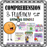 GROWING BUNDLE READING COMPREHENSION & FLUENCY WITH QUESTIONS