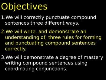 #3 Compound Sentence Punctuation