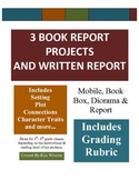 Book Reports - 3 Creative & Fun Book Reports mobile, book box, diorama & more *