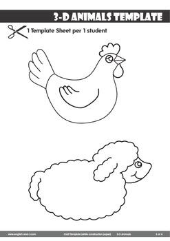 # 3-D Animals Craft