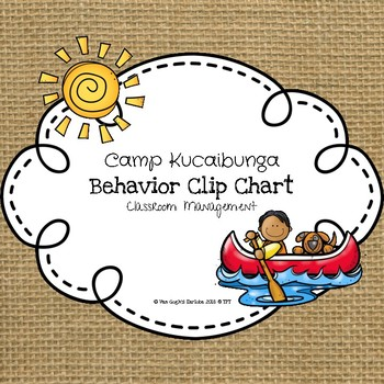 Camp Kucaibunga Behavior Clip Chart