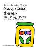 (Dollar Deal) OT Play Dough Mats School Supplies Theme