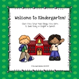 Welcome to Kindergarten Book (Social Story)