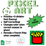 ÷3 Division Pixel Art! Digital Practice for Math Facts with Secret Reveal!