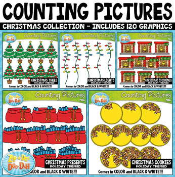 Christmas Math Counting Pictures Clipart Mega Bundle {Zip-A-Dee-Doo-Dah Designs}