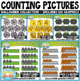 Halloween Math Counting Pictures Clipart Mega Bundle
