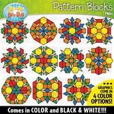 Puzzle Pattern Blocks Mosaics Clipart Set {Zip-A-Dee-Doo-Dah Designs}