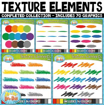 Rainbow Texture Elements Clipart Bundle {Zip-A-Dee-Doo-Dah Designs}