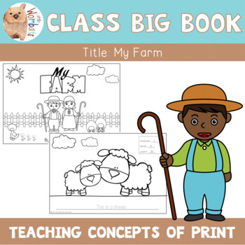Emergent Readers - Concepts of Print Big Book- Letters, Wo