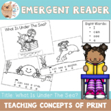 Emergent Reader / Concepts of Print / Sight Words - I Can See A