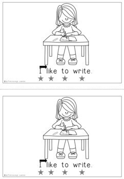 Emergent Reader / Concepts of Print / Sight Words: I Like To