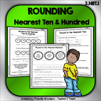 Rounding Numbers to the Nearest Ten & Hundred 3.NBT.1