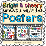 Character Ed Posters: Kindness, Respect, Teamwork
