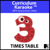 '3 TIMES TABLE' ~ Read, Sing & Learn Song Video l Distance
