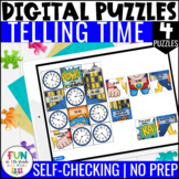 Time Digital Puzzles | 4 NO PREP Puzzles | Distance Learning