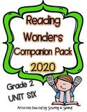 Reading Wonders 2020 Companion Pack Grade 2 UNIT SIX BUNDLE
