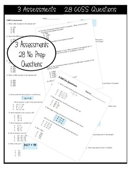 ☆ 3NBT CCSS Standard Based Assessments - Includes all NBT Standards! ☆