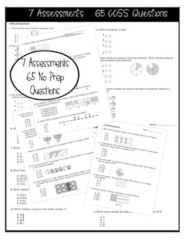 3NF Math Assessments - Includes All 7 NF Standards!