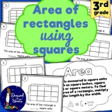 *3rd Grade* Area of Rectangles Using Squares