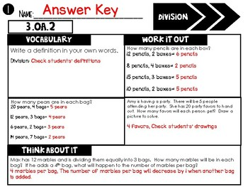 (3rd Grade) Common Core Math Assessments: Differentiated & Aligned to OA