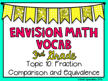 (3rd Grade) Envision Math Vocabulary Posters: Topic 10