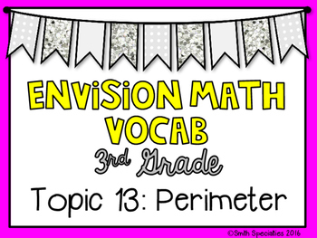 (3rd Grade) Envision Math Vocabulary Posters: Topic 13