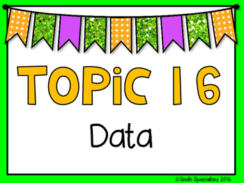 (3rd Grade) Envision Math Vocabulary Posters: Topic 16