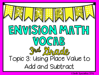 (3rd Grade) Envision Math Vocabulary Posters: Topic 3