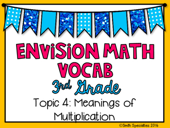 (3rd Grade) Envision Math Vocabulary Posters: Topic 4