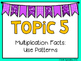 (3rd Grade) Envision Math Vocabulary Posters: Topic 5