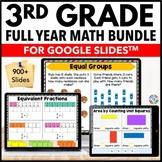 *3rd Grade Google Classroom Math Activities Bundle   Dista
