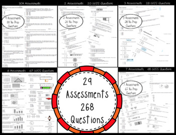 **3rd Grade Math CCSS Standard Based Assessments for Year! 269 Questions!**
