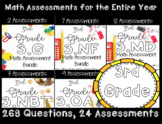 ☆ 3rd Grade Math CCSS Assessments for Year! 269 Questions!