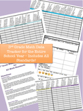 ** 3rd Grade Math Data Tracker - Includes All Common Core Math Standards! **
