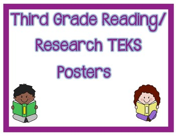 3rd Grade Reading/Research TEKS I Can Posters