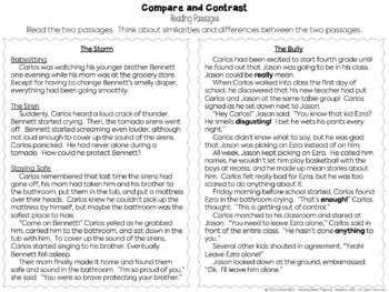 Compare and Contrast Activities Unit - Comparing Informational Texts and Stories