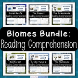 Biomes and Habitats - Reading Comprehension - Differentiated Questions - Bundle
