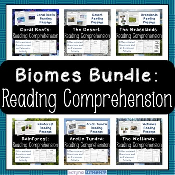 Biomes and Habitats - Reading Comprehension - Differentiat