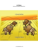 #4 Bison, Numbers, Animals, First Nations, Indigenous, Aboriginal