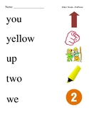 #4. Dolch Pre-Primer Sight Word Picture Match