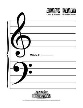 (4) Music Staffs from MrMikesMusicMats - Digital Download