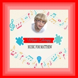 $4 Music For Matthew Digital Paper